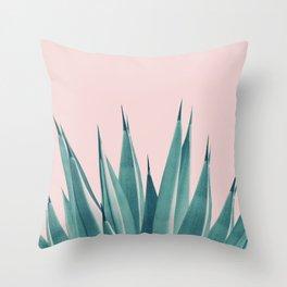Blush Agave Dream #1 #tropical #decor #art #society6 Throw Pillow