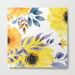 FLOWERS WATERCOLOR 10 Metal Print