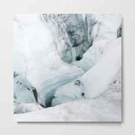 Icelandic Iceberg glacier lagoon travel Metal Print