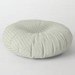 Lines II (Linen Sage) Floor Pillow