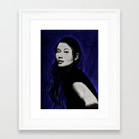 lucy Framed Art Prints featuring lucy by Taylor Jean