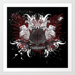 Cullenite Crest (on dark background) Art Print