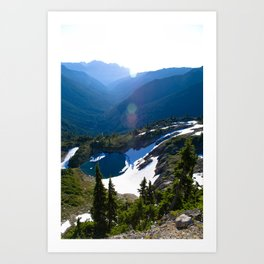 Unknown Lake, Dosewallips River, Olympis National Park Art Print