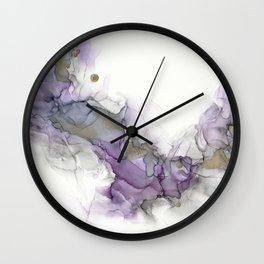 Study in Purple Wall Clock