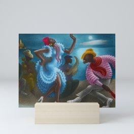 African American Masterpiece 'Rumba' Landscape Painting Mini Art Print