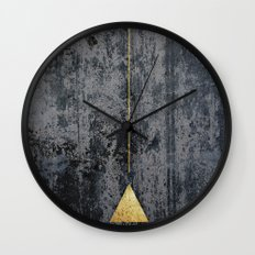 gOld triangle Wall Clock