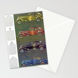 1935 Esquire New Year Car Preview No. 1: Nash, Olds, Studebaker, Packard, REO, Plymouth, Terraplane Stationery Cards