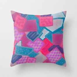 Granny squares Throw Pillow