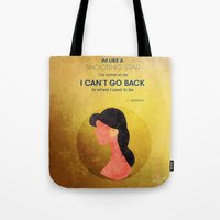 aladdin Tote Bags featuring Aladdin Quote by Melissa Vibar