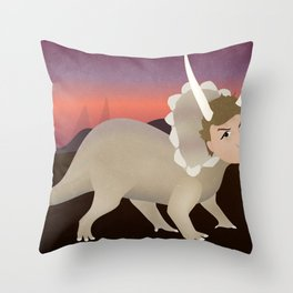 Michael Ceratops Throw Pillow