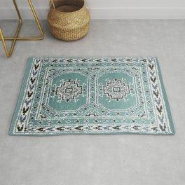 Traditional rug in denim blue Rug