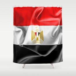 Egypt Flag Shower Curtain