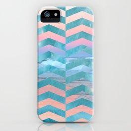 Seafoam Sunset -Wide Chevrons iPhone Case