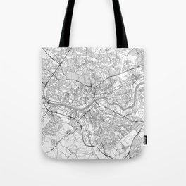 Newcastle upon Tyne Map Line Tote Bag