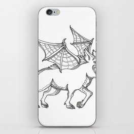 Winged Wild Boar Doodle Art iPhone Skin