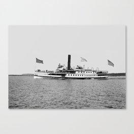 Ticonderoga Steamer on Lake Champlain Canvas Print