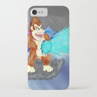 donkey kong iPhone & iPod Cases featuring Donkey Kong Super Kamehameha by Juiceboxkiller