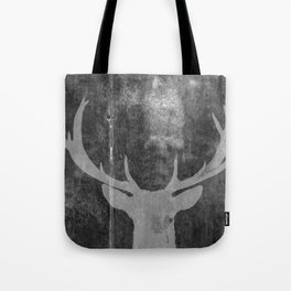 Industrial Deer Animal on Grey Cement Art A313 Tote Bag