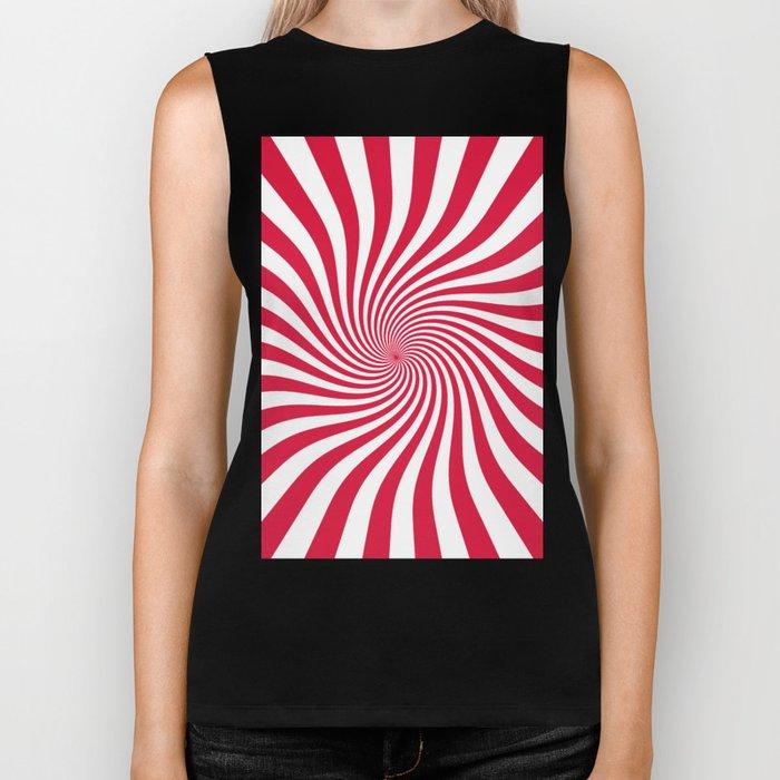 Swirl (Crimson/White) Biker Tank
