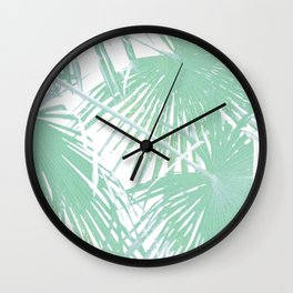 Subtle palm leaves Wall Clock