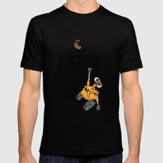 Pixar/Disney Wall-e Hang in There MEDIUM Black Mens Fitted Tee