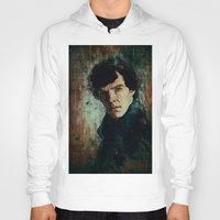 sherlock Hoodies featuring Sherlock by Sirenphotos