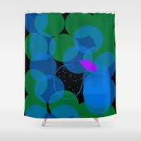 cocktail Shower Curtains featuring Peach Cocktail by mirelajoja