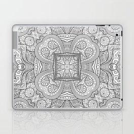 Abstract ethnic hand drawn line art seamless pattern Laptop & iPad Skin