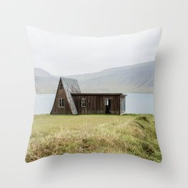 House in front of the lake Throw Pillow