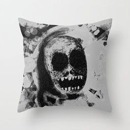 Fadin' grey Throw Pillow