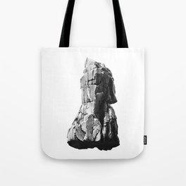 rock drawing - graphite pencil Tote Bag