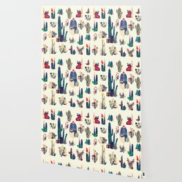 cactus ready for Christmas Wallpaper