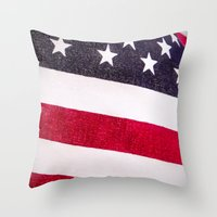 america Throw Pillows featuring America by Mary Timman