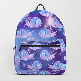 Psychedelic Galaxy Snail Backpack