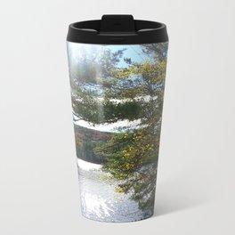 Quiet Lake in Autumn Metal Travel Mug