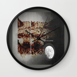 Alpha Moon Wall Clock