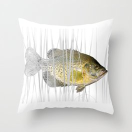 Black Crappie Fish Throw Pillow