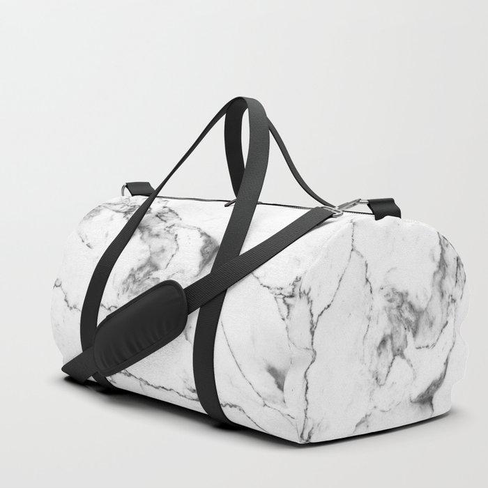 White Marble I Duffle Bag