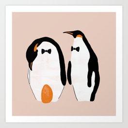 Penguin Dads Art Print