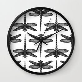Ink dragonfly Wall Clock