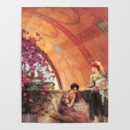 Unconscious Rivals 1893 by Sir Lawrence Alma Tadema | Reproduction Poster
