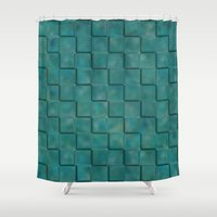 trippy Shower Curtains featuring Trippy Tiles by LLL Creations