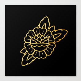 Gold Traditional Rose Canvas Print