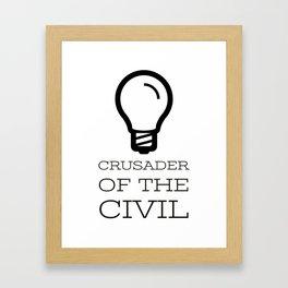 Thinker's Right Logo - Crusader of the Civil Framed Art Print