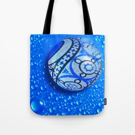 Stone And Water Orb Abstract Tote Bag