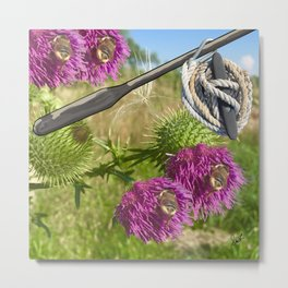 A Tribute to Shakespeare's Hamlet: Two Bee Oar Knot Two Bee Metal Print