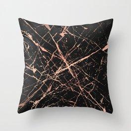 Copper Splatter 091 Throw Pillow