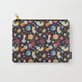 Cat astronaut seamless pattern Carry-All Pouch