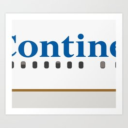 Plane Tees - Continental Airlines Art Print
