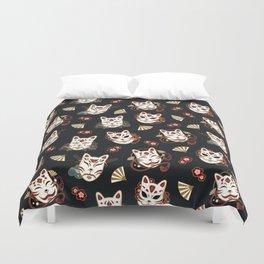 Kitsune Mood Masks Duvet Cover